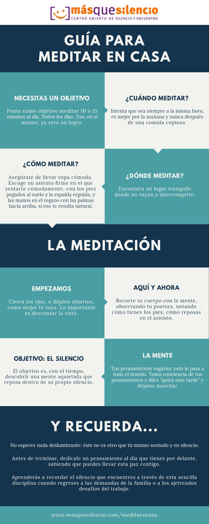 Infografía Meditar en Casa MQS